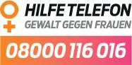 Hilfetelefon Gewalt gegen Frauen: 0800 / 116 016